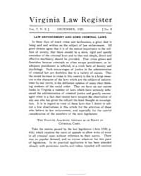 The Virginia Law Register (Part 1) ; Vol... by