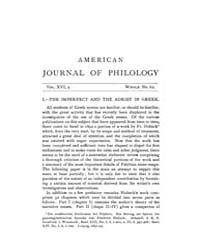The American Journal of Philology, 1895 ... Volume Vol. 16 by Larmour, David, H. J.