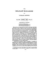 The Belfast Magazine and Literary Journa... Volume Vol. 1 by Bottoms, David