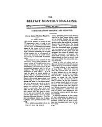 The Belfast Monthly Magazine : 1811 ; Ap... Volume Vol. 6 by L., Jennifer, Jozic
