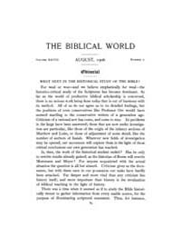 The Biblical World : 1906 ; Aug. No. 2 V... Volume Vol. 28 by Harper, Rainey, William