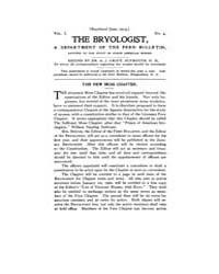 The Bryologist : 1898 ; Oct. No. 4 Vol. ... Volume Vol. 1 by Goffinet, Bernard