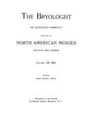 The Bryologist : 1909 ; Nov. No. 6 Vol. ... Volume Vol. 12 by Goffinet, Bernard