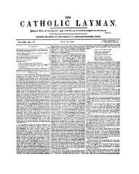 The Catholic Layman : 1858 ; May 19 No. ... Volume Vol. 7 by Ellis, John, Tracy