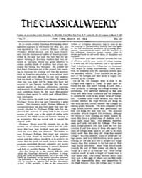 The Classical Weekly : 1912 ; Mar. 23 No... Volume Vol. 5 by Clarke, Keith