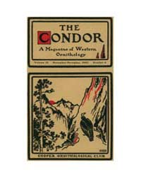 The Condor : 1907 ; Nov.-dec. No. 6 Vol.... Volume Vol. 9 by Patten, Michael