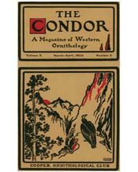 The Condor : 1908 ; Mar.-apr. No. 2 Vol.... Volume Vol. 10 by Patten, Michael