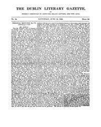 The Dublin Literary Gazette : 1830 ; Jun... by Joyce, J, A. A.