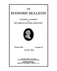 The Economic Bulletin : 1910 Jun. No. 2,... Volume Vol.3 by