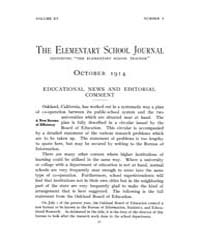 The Elementary School Journal : 1914 Oct... Volume Vol.15 by Gersten,russell