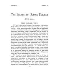 The Elementary School Teacher : 1904 Jun... Volume Vol.4 by Gersten,russell