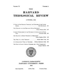 The Harvard Theological Review : 1913 Oc... Volume Vol.6 by