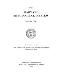 The Harvard Theological Review : 1915 Ja... Volume Vol.8 by