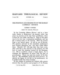 The Harvard Theological Review : 1915 Oc... Volume Vol.8 by