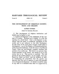 The Harvard Theological Review : 1917 Ap... Volume Vol.10 by