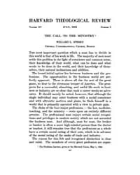 The Harvard Theological Review : 1922 Ju... Volume Vol.15 by