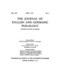The Journal of English and Germanic Phil... Volume Vol.72 by Wright, Charles