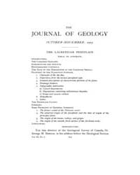 The Journal of Geology : 1903 Oct Nov No... Volume Vol.19 by Wright,charles