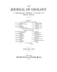 The Journal of Geology : 1908 Jan. Feb N... Volume Vol.12 by Rowley,david