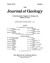 The Journal of Geology : 1910 Jan Feb No... Volume Vol.30 by Rowley,david