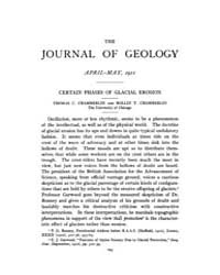 The Journal of Geology : 1911 Apr May No... Volume Vol.1 by Rowley,david