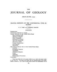 The Journal of Geology : 1913 May Jun No... Volume Vol.4 by Rowley,david