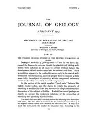 The Journal of Geology : 1914 Apr May No... Volume Vol.4 by Rowley,david