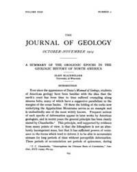 The Journal of Geology : 1914 Oct. Nov N... Volume Vol.5 by Rowley,david