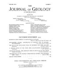 The Journal of Geology : 1915 Oct Nov No... Volume Vol.8 by Rowley,david