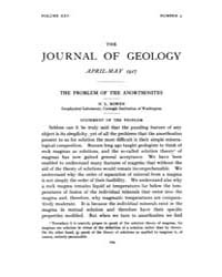 The Journal of Geology : 1917 Apr May No... Volume Vol.10 by Rowley,david