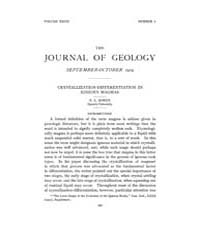 The Journal of Geology : 1919 Sep Oct No... Volume Vol.13 by Rowley,david
