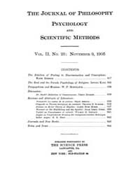 The Journal of Philosophy : Psychology a... Volume Vol.2 by