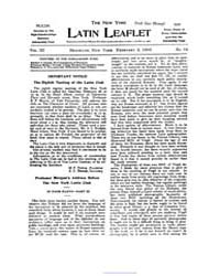 The New York Latin Leaflet, 1903 Feb. 2,... Volume Vol. 3 by
