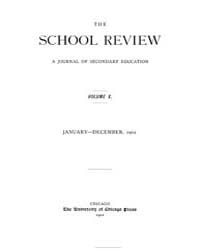 The School Review ; Volume 10 : No 1 : J... by