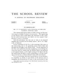The School Review ; Volume 10 : No 4 : A... by