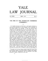 The Yale Law Journal ; Volume 24 : No 7 ... by Yale Law School