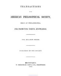 Transactions of the American Philosophic... by