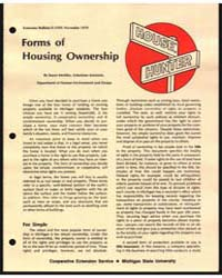 Forms of Housing Ownership, Document E-1... by Susan Merkley