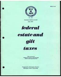 Federal Estates and Gift Taxes, Document... by Michigan State University