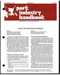 Feeder Pig Marketing Techniques, Documen... by Dennis Dipietre