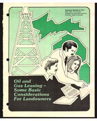 Oil and Gas Leasing- Some Basic Consider... by Carroll, Adger B.