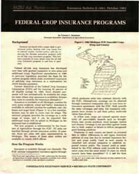 Federal Crop Insurance Programs, Documen... by Vernon L. Sorenson