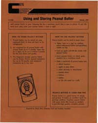 Using and Storing Peanut Butter, Documen... by Penny Ross