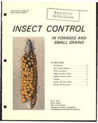 Insect Control in Forages and Small Grai... by Robert Rupper