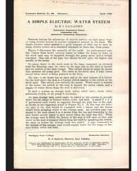 A Simple Electric Water System, Document... by H. J. Gallagiler