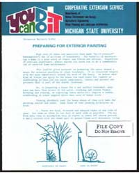 Preparing Fo-r Exterior Painting, Docume... by Michigan State University
