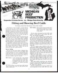 Michigan Beef Production, Document E989 by Pete Seeney