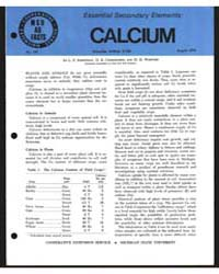Essential Secondary Elements, Calcium, D... by L. S. Robertson
