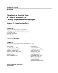 Closing the Quality Gap: a Critical Anal... by Shojania, Kaveh, G