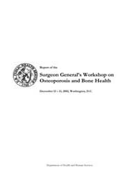 Report of the Surgeon General's Workshop... by US Department of Health and Human Services